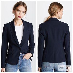 Theory Blazer Jacket Slim Fit Cotton Navy Sz 8